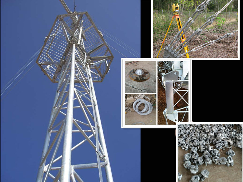 Steel Guyed Wire Mast Galvanized for Telecom