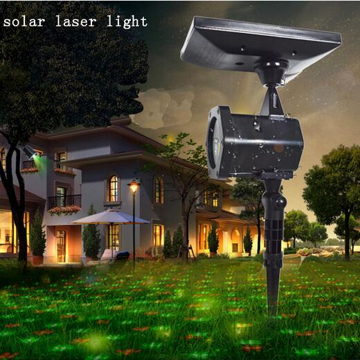 Waterproof LED Solar Outdoor LED Projected Landscape Decoration Garden Christmas Laser Light