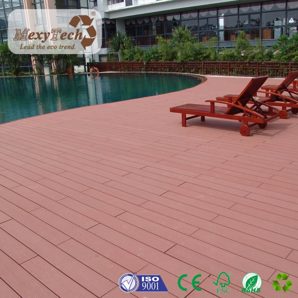 China Easily Cleaning WPC Material Wood Grain Composite Decking   China Composite  Decking, WPC Decking