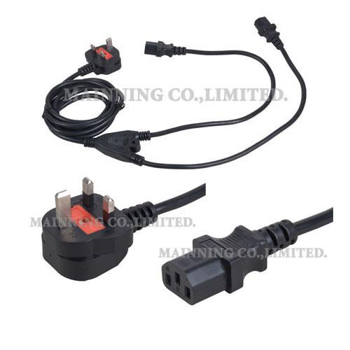 Power Cord Plug Types : China power cord y type bs plug iec c pc