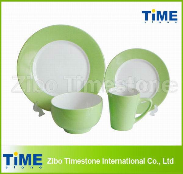 Two-Tone Color Ceramic Dinnerware Tableware