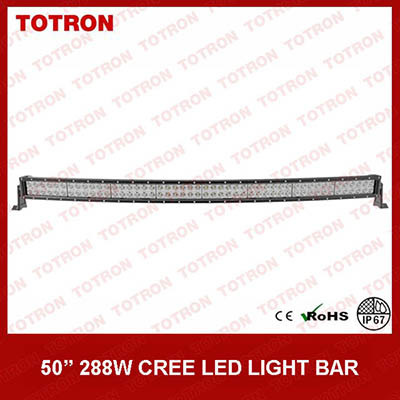High Lumen 288W 50 Inch Curved Light Bar with CREE LED Chip (TLB3288X)