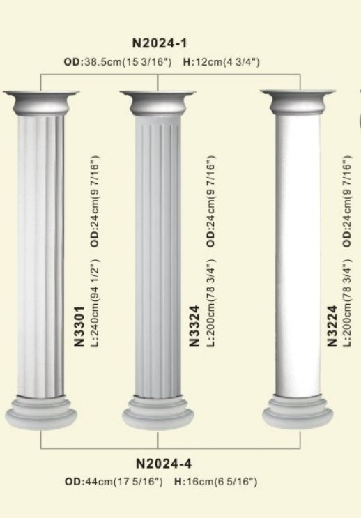 PU Roman Art Pillar Column for Decoration