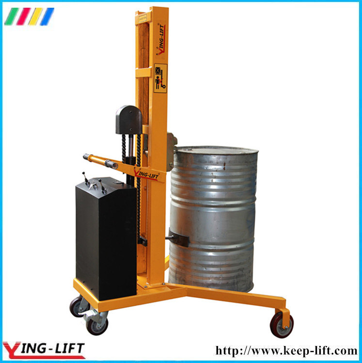 V-Shaped Base Semi Electric Drum Stacker Dt300