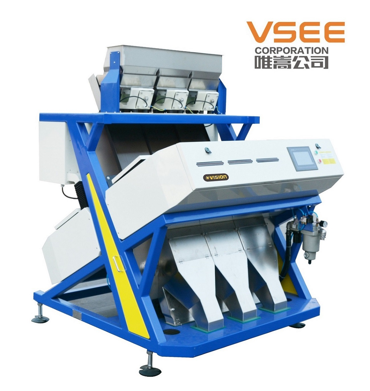 RGB Full Color Food Processing Machine Grain Color Sorter Soybeans Sorting Machine