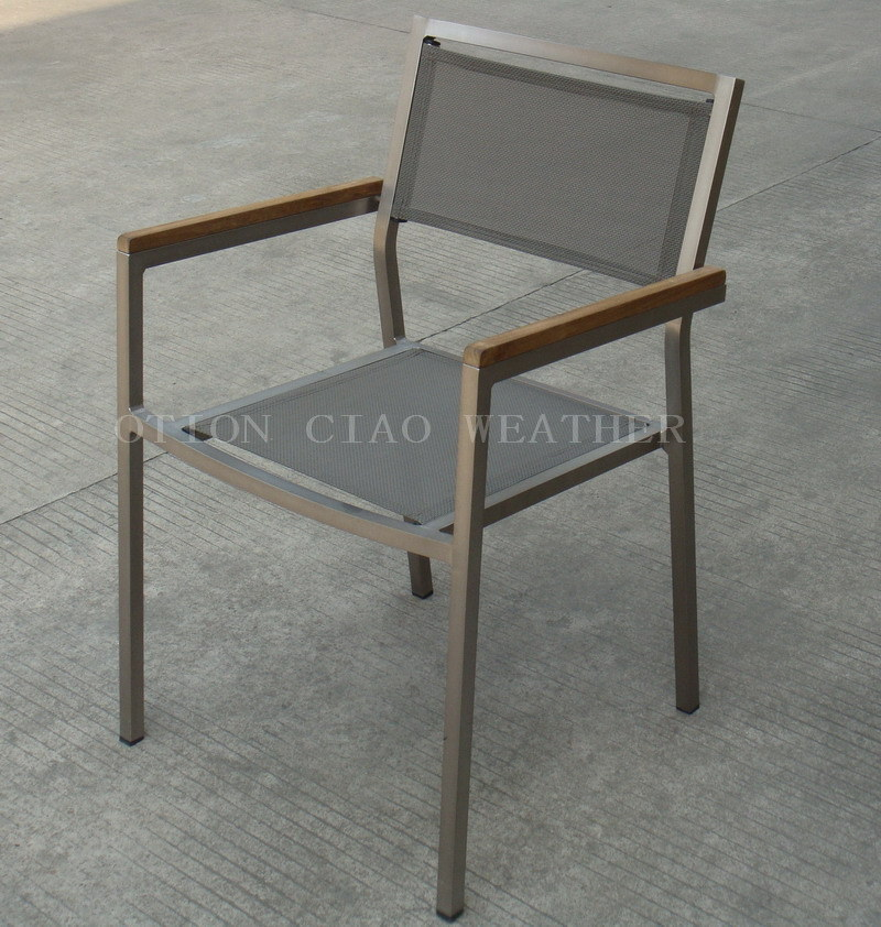 China Armchair Stainless Steel Look China garden