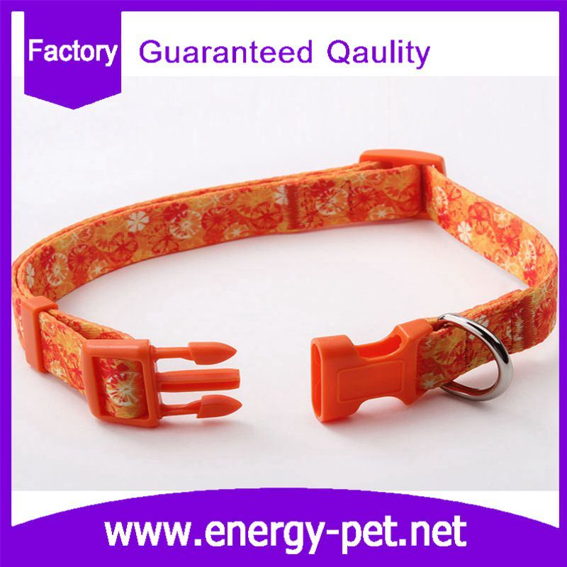 China Manufacturer Adjustable Polyester Braided Pattern Pet Collar
