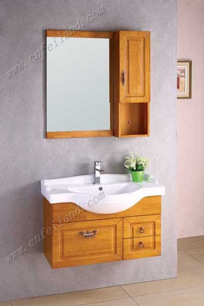 Solid Wood on Solid Wood Bathroom Furniture  F 267    China Solid Wood Bathroom