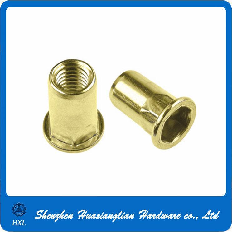 Customized Different Types Flat Head Thread Insert Steel Rivet Nuts