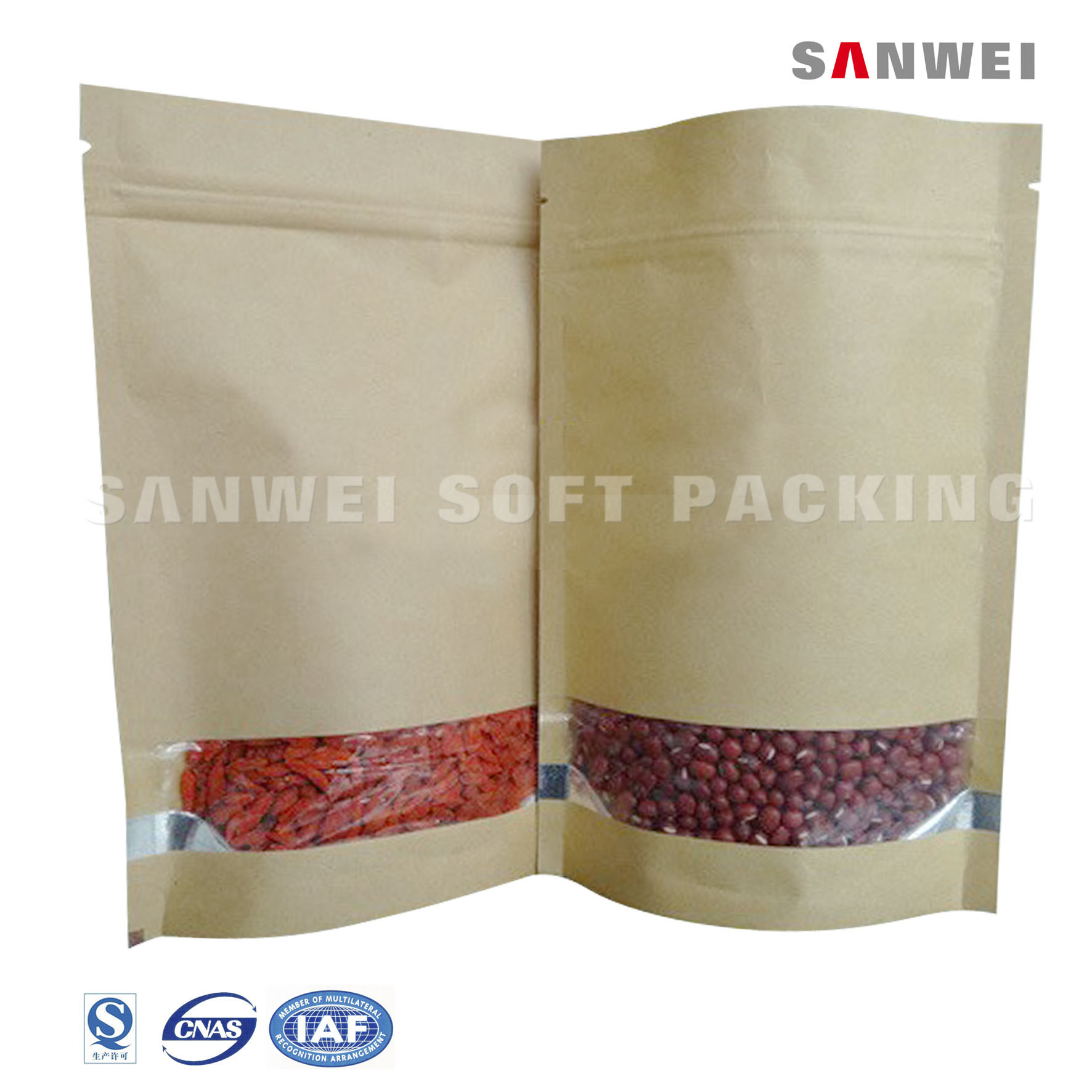 PP Dry Fruit Kraft Paper Packaging Bag of Bag (ZL-18)