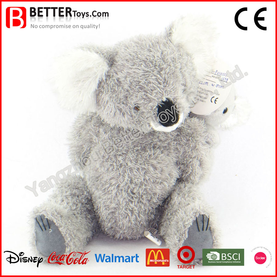 Stuffed Animal Soft Koala Mother with Joey on Back Plush Koala Toy