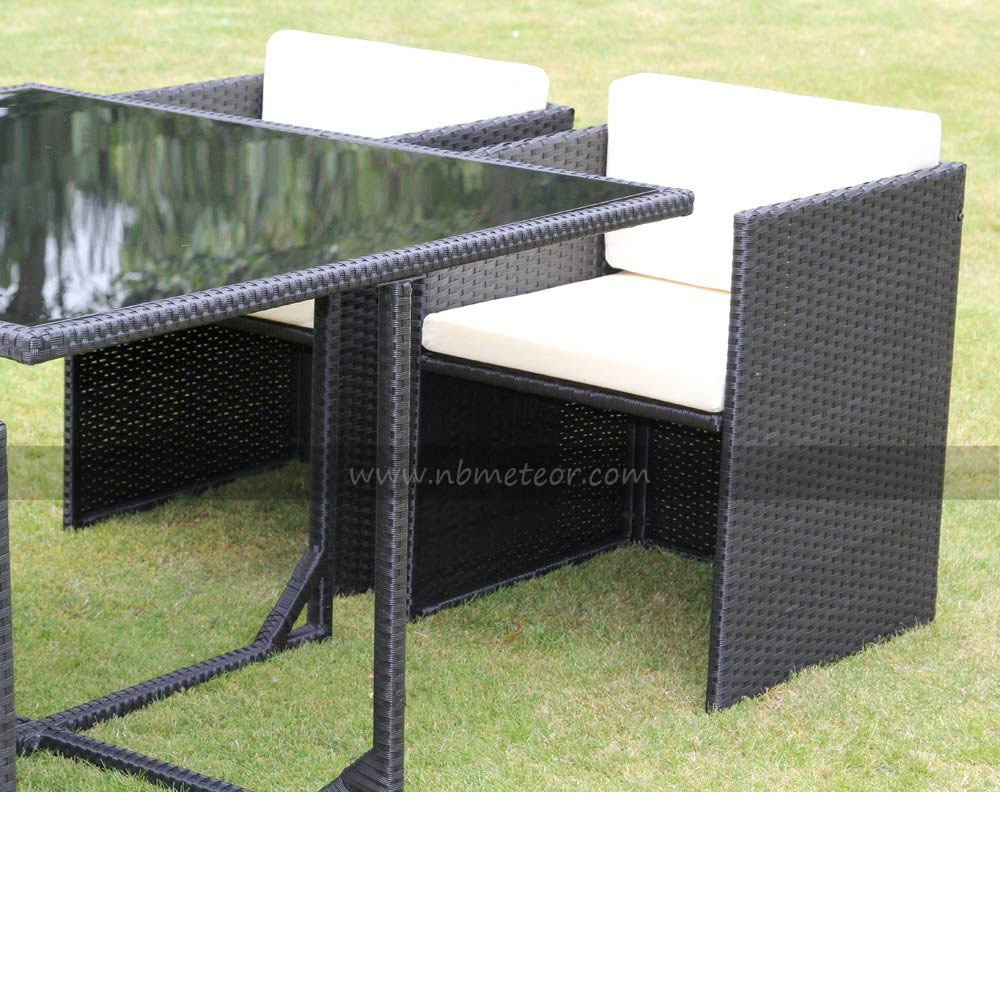 Wicker Rattan Garden Furniture Dining Set for Outdoor (MTC-016-KD)