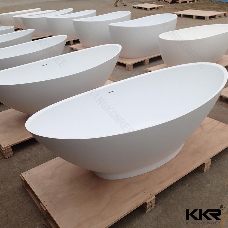 Chinese Modern Style Acrylic Surface Freestanding Bathtub
