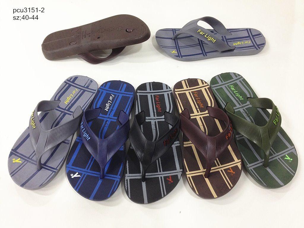 Hotsale Men′s PVC Flip Flops Slippers Beach Sandals (YF-2112)