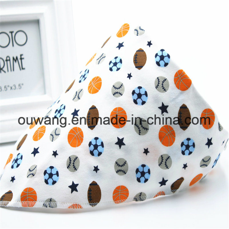 Cheap Wholesale Custom Logo Printed Cotton Bandana Bib