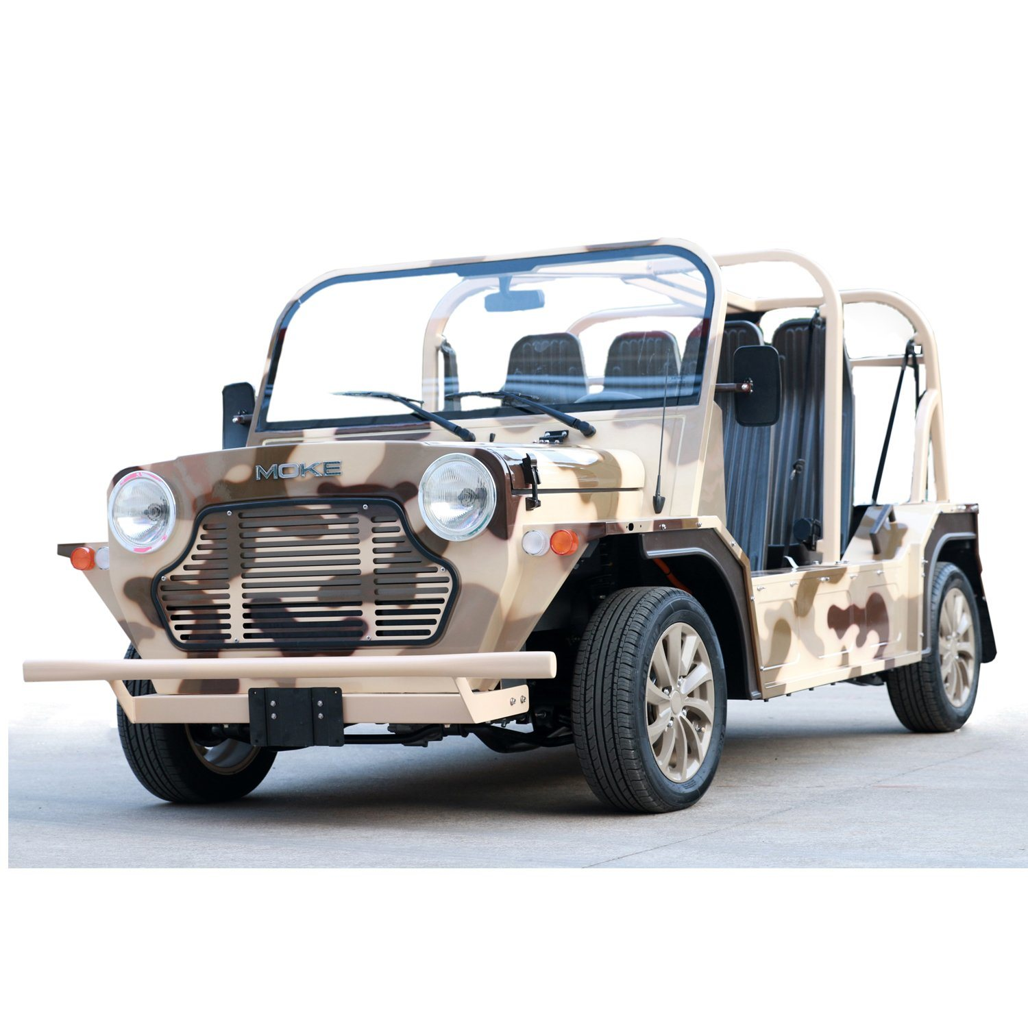 Desert Camouflage Electric Tourist Coach Sightseeing Car