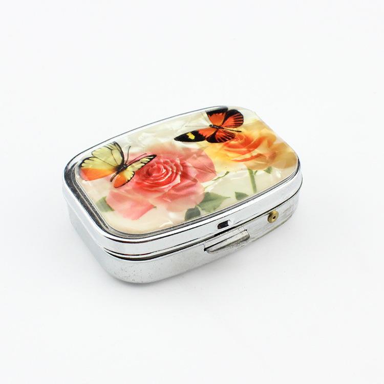 Promotional Gift Portable Mini 2 Slots Pill Box Medical Drug Medicine Storage Case Organizer