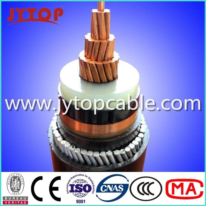 3.6/6kv Medium Voltage Single Core Copper XLPE Insulation Power Cable