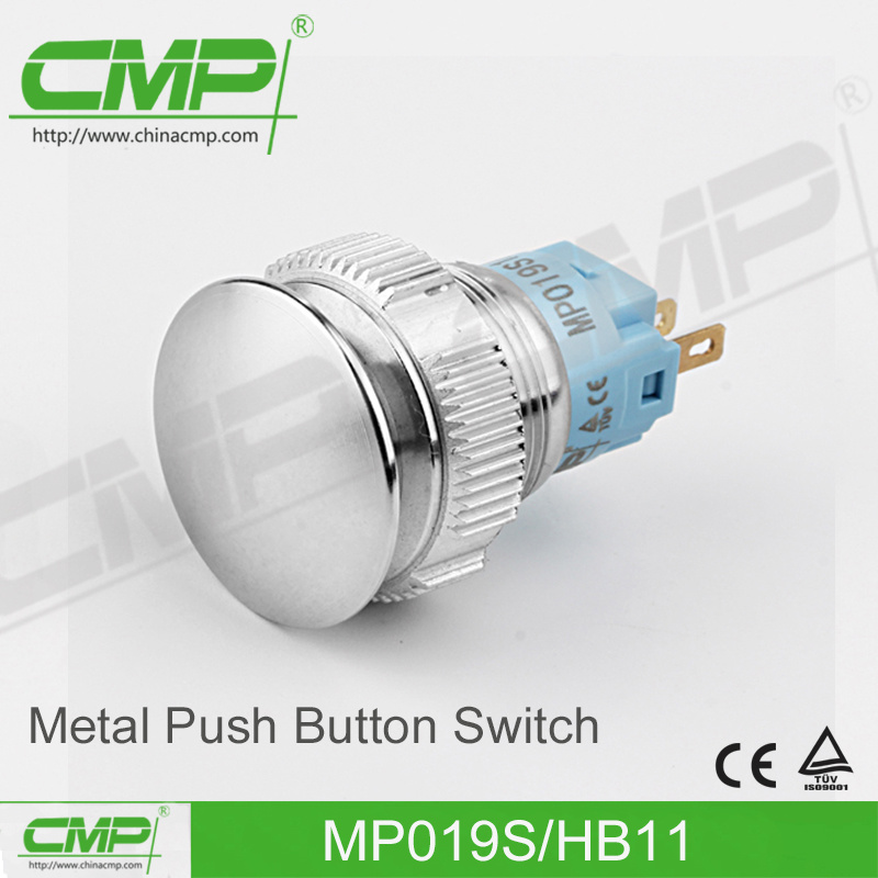 CMP 19mm Metal Push Button with Power Symbol Illumination