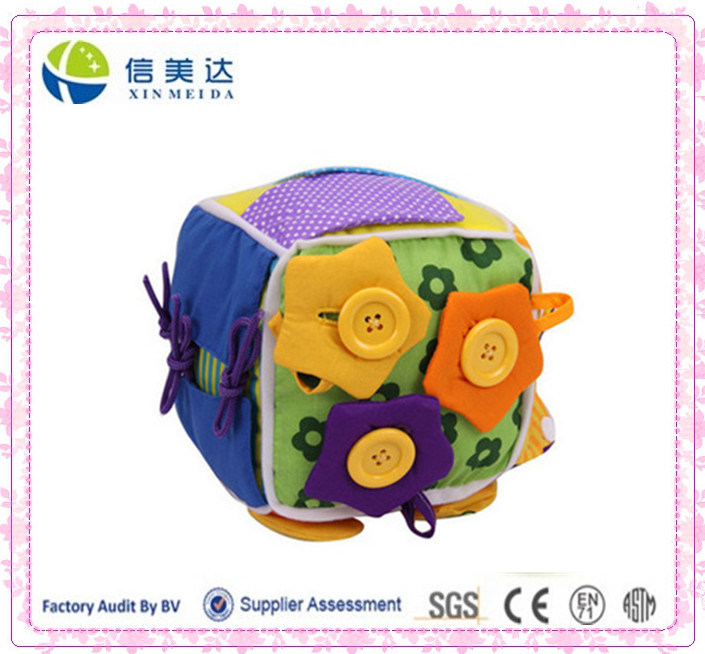 Learn How to Dress Soft Cube Baby Toy