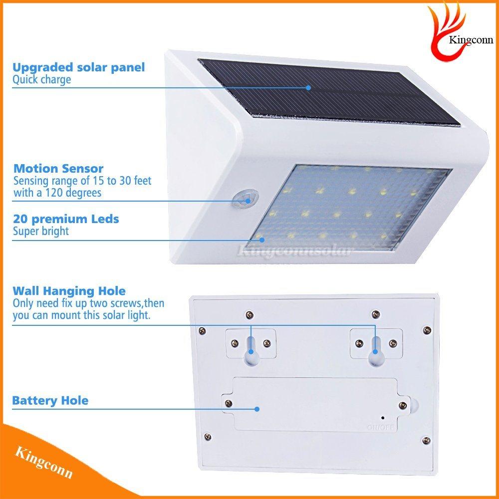 LED Motion Sensor Solar Light Solar Garden Light Outdoor