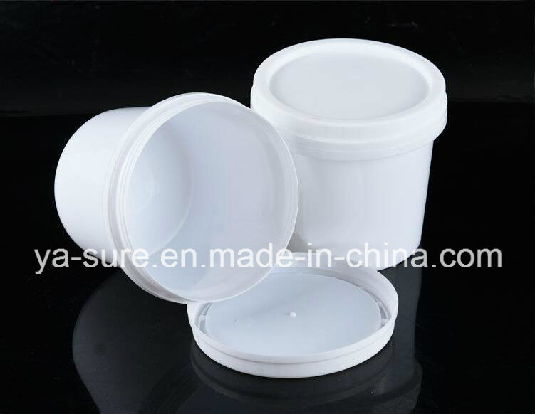 Small White Plastic Bucket with Screw Lid