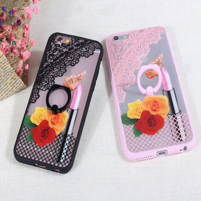 Wholesale Cute TPU+PC Mobile Phone Case for iPhone 6/6s/ 6 Plus with Holder