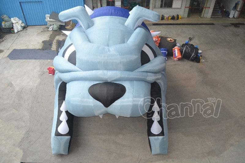 Customized Bulldog Themed Inflatable Tunnel for Sport Teams