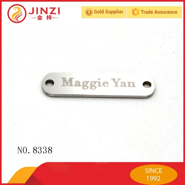 Quality Guarantee Brand Metal Main Label for Clothing