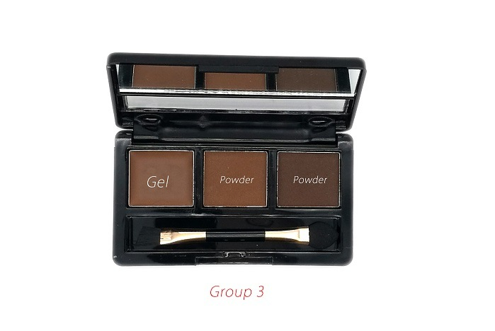 2 Powder + 1 Gel High Quality Professional OEM/ODM Eyebrow Palette