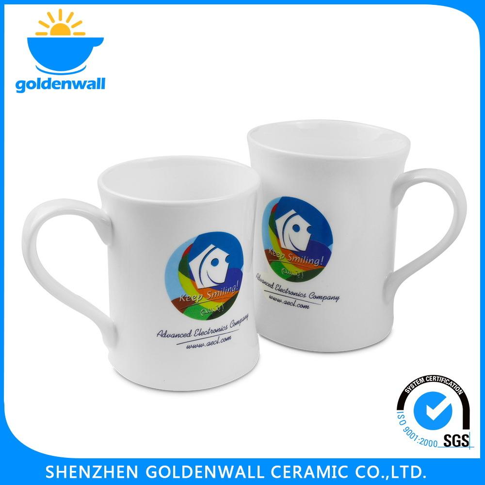 Customized Pure White Ceramic Tea Mug