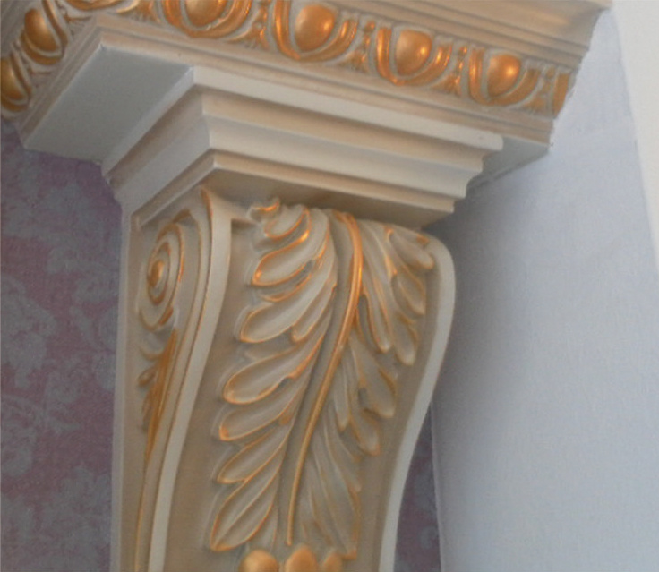 Top Rank PU Corbel PU Foam Cornices