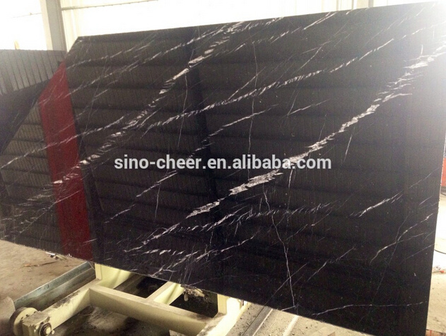 Hot Sale Black Marble Slabs Nero Marquina Black Marble Tile