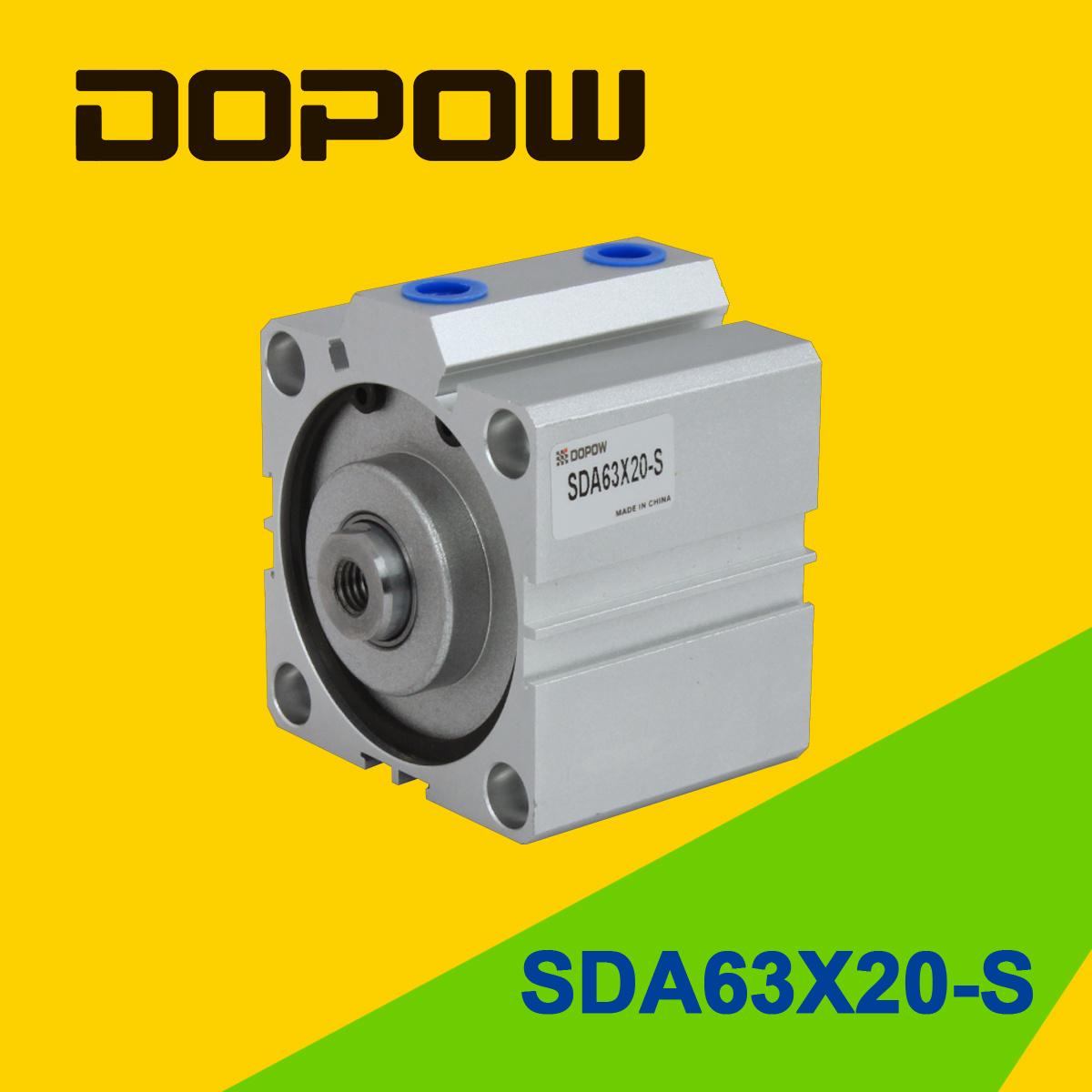 Dopow Sda63-20-S Compact Pneumatic Cylinder