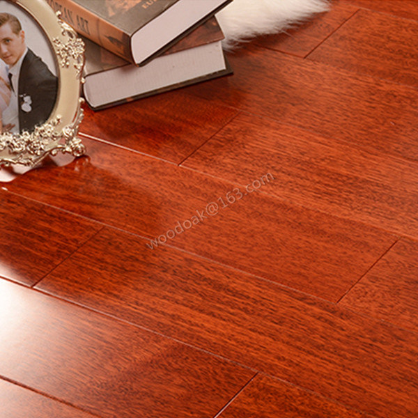 Solid Heating Hardwood Flooring Merbau Flat Wood Flooring