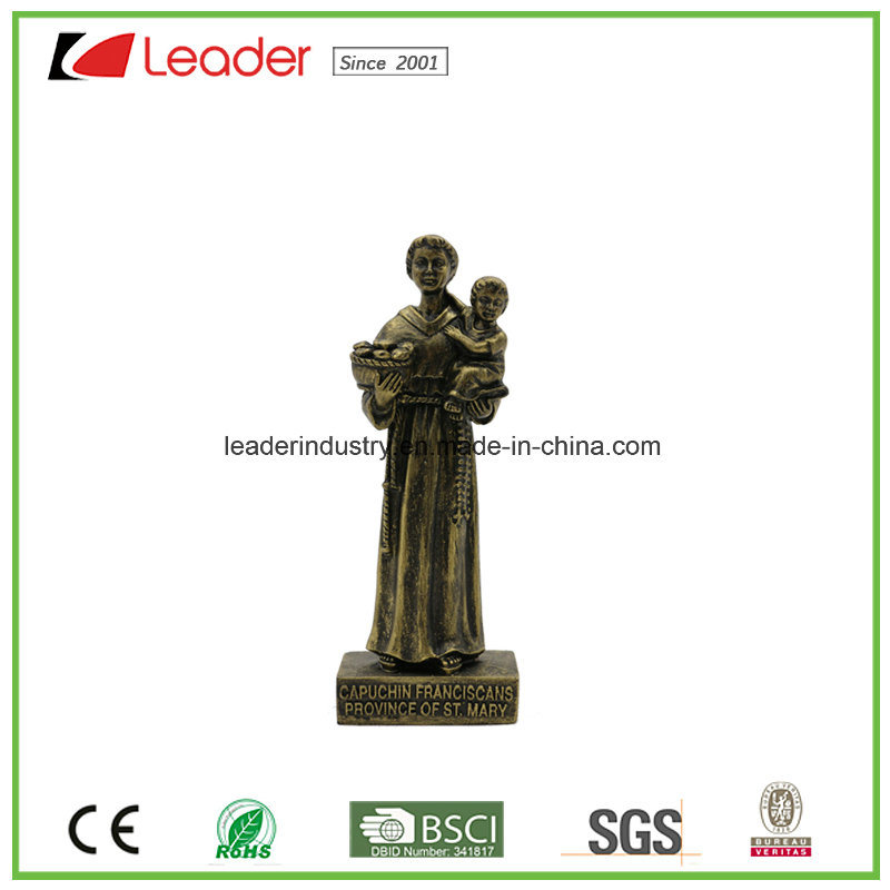 Polyresin St. Anthony Religious Statue for Home Decoration