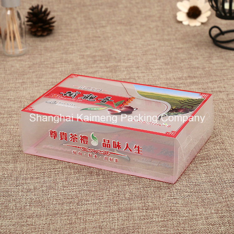High Grade Clear Pet UV Prinitng Plastic Boxes for Cosmetic Package
