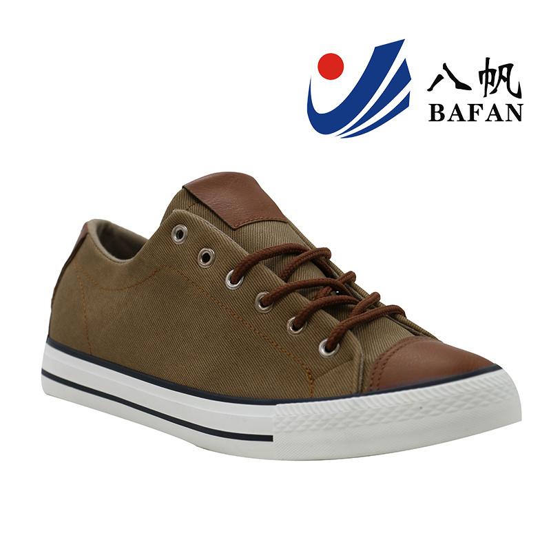 Men′s PU Upper Basic Canvas Shoes Bf1610201