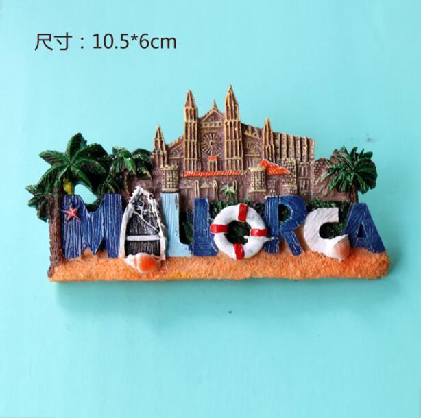 Resin material Make 3D Tourist Spain Country Souvenir Fridge Magnets