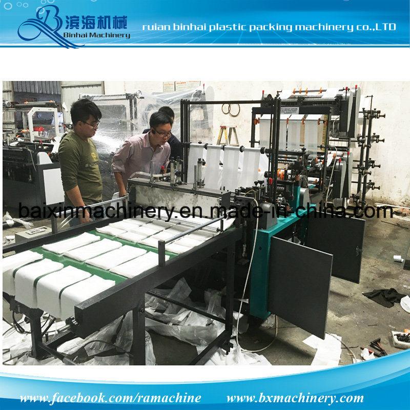 8 Lines PE Small Shopping Handle Plastic Bag Making Machine