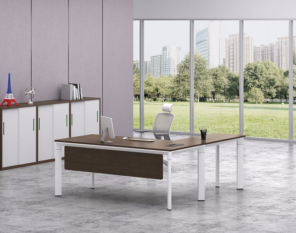 White Customized Metal Steel Office Executive Table Frame Ht93-2