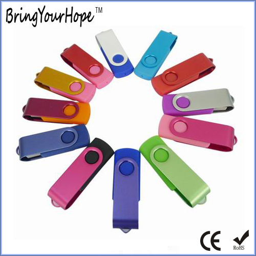Popular Metal Swivel USB Flash Drive Pen Drive (XH-USB-001)