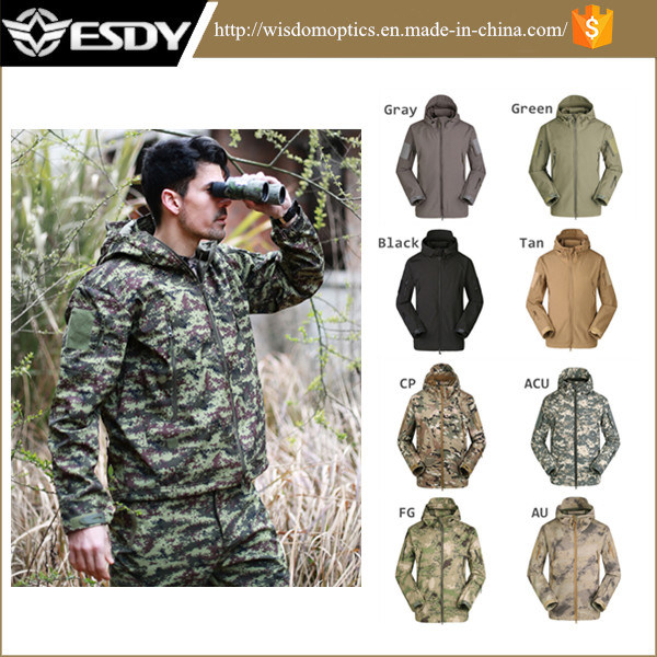 Men′s Outdoor Hunting Camping Hoodie Waterproof Coat Sports Military Jacket