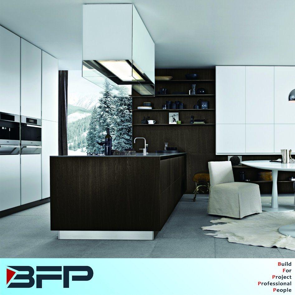 Custom Made Wood Cupboard Laminated Kitchen Cabinet