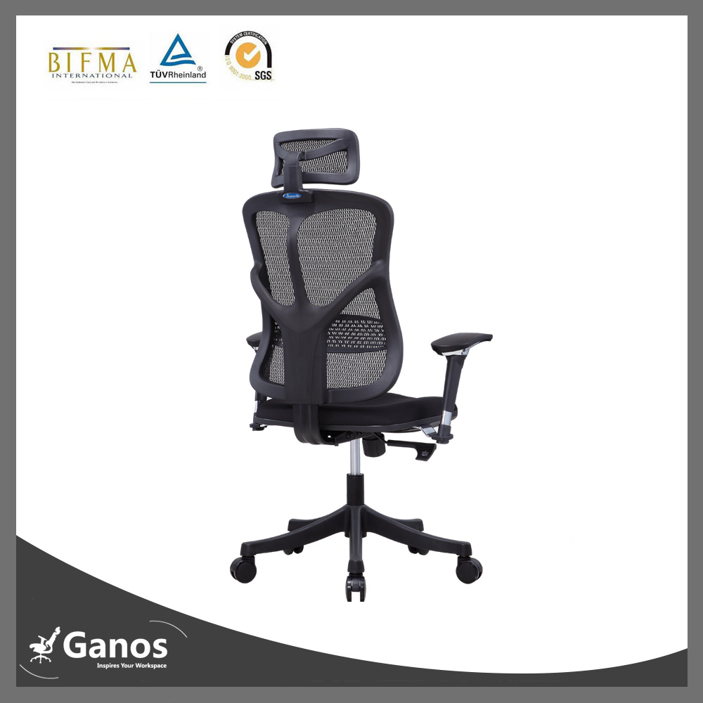 High Back Mesh Wheel Armchair