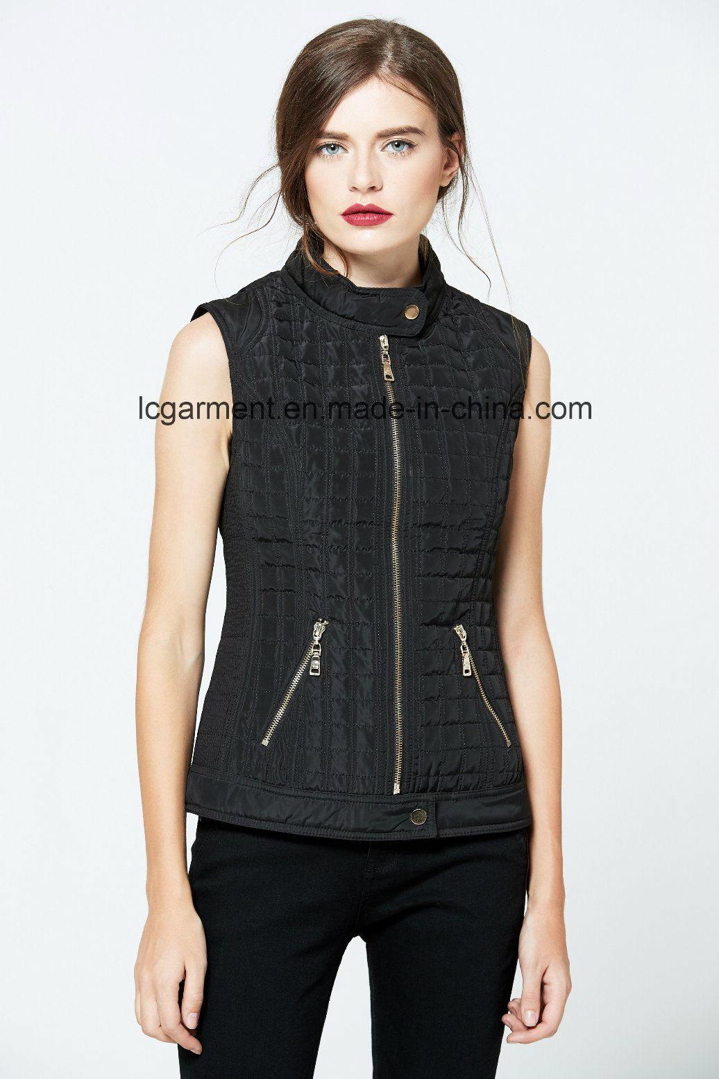 Good Quality Fashion OEM ODM Polyester Vest Winter Ladies Waistcoat