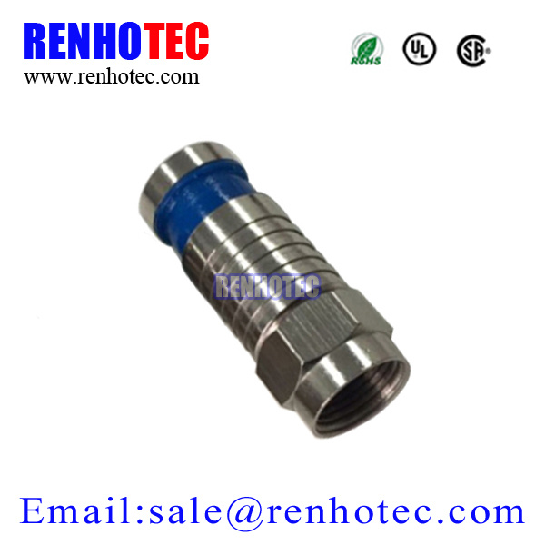 RG6 Coaxial Cable Crimp Type F Male Connector