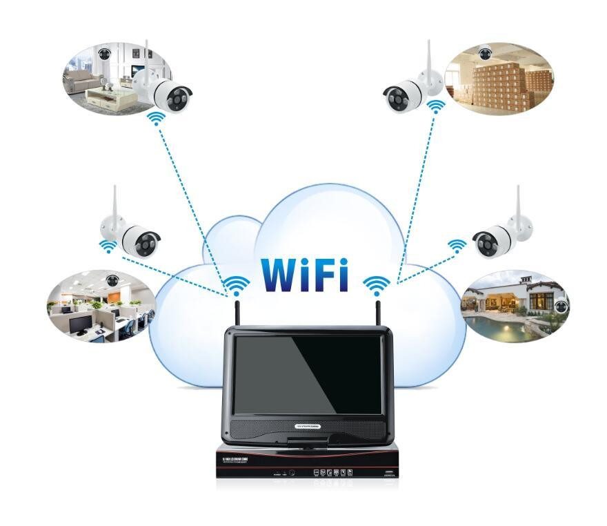 Hot Sale 960p 2.0MP Wireless 4 Channel Wireless Security Surveillance Cameras System WiFi NVR