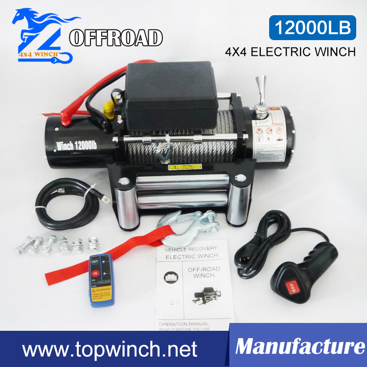 SUV 4X4 12V DC Electric Winch with Ce Certification (12000lb-1)