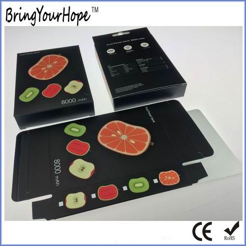 Watermelon Lemon Kiwifruit Apple Shape Fruit Design Cute Power Bank (XH-PB-245)